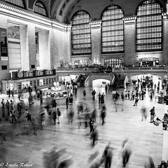 Grand Central Terminal-3 (estellerobertnyc) Tags: grandcentralterminal manhattan nyc newyork usa blackandwhite noiretblanc