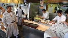Tsukiji fish market workers get some morning noodles after work finishes at 6AM (Asiacamera) Tags: tsukiji asiacamera tokyo japan