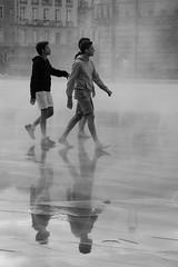 Miroir de brume (aurelie.a) Tags: noiretblanc miroir effet reflet rume miroirdeau nantes jeux trio blackandwhite mirorspirit photoderue