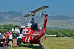 Bell UH-1H Iroquois N60901 (skyhawkpc) Tags: garyverver allrightsreserved bouldermunicipalairport bma nikon kbma 2016 boulder co colorado bell uh1h iroquois huey 7016232 12537 n60901 helicopter