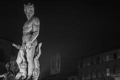 Neptune (daniele.azzurra) Tags: winter canon art neptune white black bw statue florence