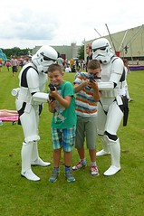 My Two Little Terrors, (Grandsons) (Bogger3.) Tags: twolittleterrors grandsons funday stormtroopers amusements panasonicdmcfs35