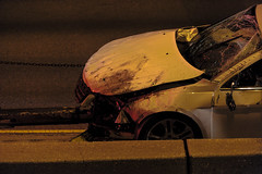Early Morning Accident (niXerKG) Tags: nikon fx dslr d3 nikond3 12mp nikkor 70200mm 70200mmvr tc14e accident 290