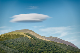 Lenticular cloud over Latrigg and Blencathra
