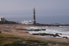 Lighthouse at Jos Ignacio, Uruguay (Andrs Bentancourt) Tags: outdoors sea beach ocean landscapes landscape faro lighthouse farol playa arena rocas sand rocks uruguay uruguai travel traveling wanderlust vacations winter