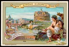 Liebig Tradecard S557 - The River Tiber (cigcardpix) Tags: tradecards advertising ephemera vintage liebig chromo
