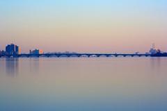 MacArthur Bridge (Notkalvin) Tags: macarthurbridge bridge sunrise morning early softlight detroit island outdoor detroitriver mikekline notkalvin notkalvinphotography river reflection