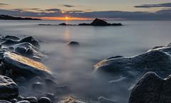 Break of Dawn (Grant Morris) Tags: orangesun kinghorn sunrise sunriseoverwater fife fifecoast fifecoastalpath scotland wetrocks reflection longexposure grantmorris grantmorrisphotography canon 5d3 nd nd10