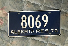 ALBERTA 1970 ---RESIDENT TRUCK PLATE #8069 (woody1778a) Tags: alberta canada traders trade fortrade forsale myhobby mytraders licenseplate numberplate registrationplate