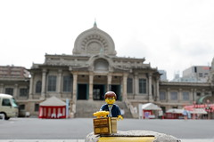 Travels of badger - Tsukiji Hongan-ji Temple (enigmabadger) Tags: brickarms lego custom minifig minifigure fig accessory accessories japan asia vacation trip travel outdoors japanese
