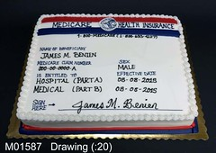 M01587 (merrittsbakery) Tags: cake birthday retirement medicare