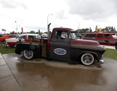 Chevrolet Pickup (blondygirl) Tags: showshine car auto celebrationchurch june19 fathersday carshow 15thannual yeg sa 2016 antiquecars sportcars musclecars imports trucks motorcycles rain raindrops