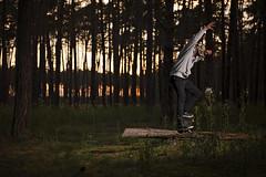 forest crooked (polacekbrano) Tags: skate skateboarding skatelife forest sunset nature colors treegrind grind jsemnikon nikonczsk sb700 nikkor2470mm28 d700