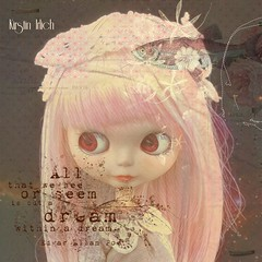 But a dream (spunsugarsalon) Tags: blythe blythedoll dollfashion dream dollcouture fisch serene surreal overlay flowers dollphotography asianfashiondoll scrapbooking rose sewing