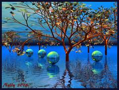 *Autumn...!* (MONKEY50) Tags: art blue colors autumn fall tree balls brown psp bryce hypothetical musictomyeyes autofocus shockofthenew netartii artdigital awardtree flickraward beautifulphoto digital