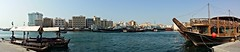Dubai Creek Panorama (ST33VO) Tags: dubai dubaicreek waterway unitedarabemirates uae city waterfront water river panoramic panorama urbanwaterway dhow abra middleeast