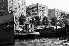 Amsterdam Gracht-3 (Livesey's) Tags: canon 5d 5dmarkiii 5dmark3 film 35mm 50mm eos person mastin kid amsterdam water swim evening blackandwhite bw kids playing swimming gracht canal afternoon