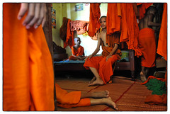 Kratie, Cambodia - This was once my room (Mio Cade) Tags: reportage documentary monk novice kratie cambodia temple pagoda wat life spartan bed room monastery boy children kid child