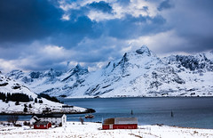 Norway (Lukasz Lukomski) Tags: norway lofoten archipelago europe europa nikond7200 sigma1770 mountains snow snieg scandinavia skandynawia water woda gry wybrzee coast sea ice ld clouds chmury