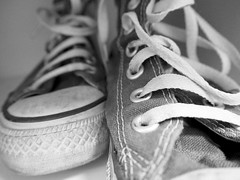 The oldest Ones (Gorana Guiboud-Ribaud) Tags: chucks converse schwarzweiss blackandwhite shoes chuck taylor oldshoes sneakers oldchucks