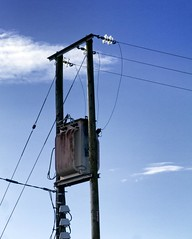 pylons (friendlydrag0n) Tags: power pylon mast high voltage tension distribution sky