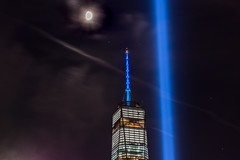 BSD_6145 (BrandonD95) Tags: 911 2016 world trade center wtc sunset moon lights skyline nyc new york city lightroom