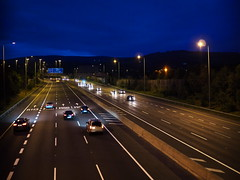 M50 southbound from Knocklyon pedestrian overpass (turgidson) Tags: panasonic lumix dmc g7 panasoniclumixdmcg7 panasonicg7 micro four thirds microfourthirds m43 g lumixg mirrorless 20mm f17 asph panasonic20mmf17asph 20mmf17 20mmf17asph prime lens primelens pancake hh020 silkypix developer studio pro 7 silkypixdeveloperstudiopro7 raw p1040523 road motorway dual carriageway dualcarriageway national roads authority nationalroadsauthority nra m50 dublin ireland night cars headlights knocklyon firhouse pedestrian bridge overpass freeway transport infrastructure transportinfrastructureireland