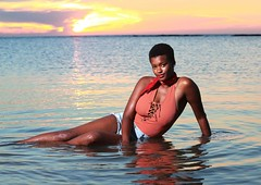 DP1U8743 (c0466art) Tags: lovely princess sao tome mayla pretty smile beautiful sunset momemt colorful golden sea reflection nice pose action weat africa small country outdoor portrait light canon 1dx c0466art