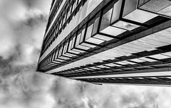 It Came from Outer Space (Mac McCreery) Tags: bankhouse cherrystreet offices architecture sky birminghamuk urban monochrome blackandwhite pentaxk5iis sigma1770dcmacro
