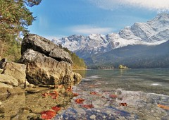 Eibsee , Germany (adr.vesa) Tags: eibsee water lake zugspitze grainau garmisch panorama mountains berg landscapes herbst autumn garmischpartenkirchen bayern germany
