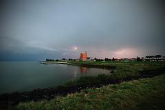 Flashing (Harry Kool) Tags: medemblik onweer weer ijsselmeer weather thonderstom rain evening sunset sun noordholland westfriesland
