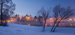 Joensuu city (Tarmo Sotikov) Tags: finland northkarelia joensuu water winter trees snow ice pieliscastle