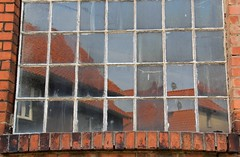 (Linda6769) Tags: reflection abandoned window germany town decay thuringia windowpane themar