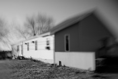 A Home in Brick (lily.szabo) Tags: blackandwhite bw house blur home newjersey movement nj jerseyshore oceancounty tse lightroom fallingapart wideopen tiltshift nocolor vsco vscofilm