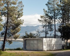 Jos Maria Snchez Garca. The ring #11 (Ximo Michavila) Tags: blue trees shadow sky sunlight mountains nature sport metal architecture clouds landscape concrete spain perspective ring caceres archidose archdaily archiref josmariasnchezgarca ximomichavila