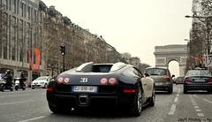Bugatti Veyron on the Champs-Elyses. (JayRao) Tags: paris france champselysees nikon april bugatti arcdetriomphe w16 veyron jayr 2013 d3100