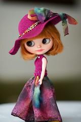 Blythe silk dress & hat