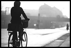 Breaking the harsh light (Bjarne Erick) Tags: bw bike bicycle copenhagen valby bjarneerick