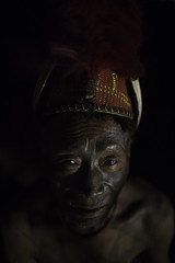 the last head hunters, konyak tribe warrior,nagaland (anthony pappone photography) Tags: old travel portrait india men face hat tattoo canon asia head burma traditions piercing bones warrior myanmar mon tribe ethnic cultures ritratto hunters necklaces tatuaggio naga oldmen nagaland headhunters etnic longwa hornsanimal birmania animist guerrieri konyak wancho oldcultures facetattooed headunter