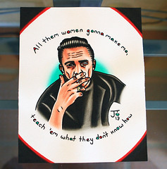 Johnny Cash Jackson (jlynntaylorart) Tags: portrait music art ink watercolor painting lyrics forsale cigarette smoke country jackson american johnnycash custom greaser maninblack walktheline junecarter folsomprison boynamedsue cocaineblues traditionaltattoo spitshade jessicataylor