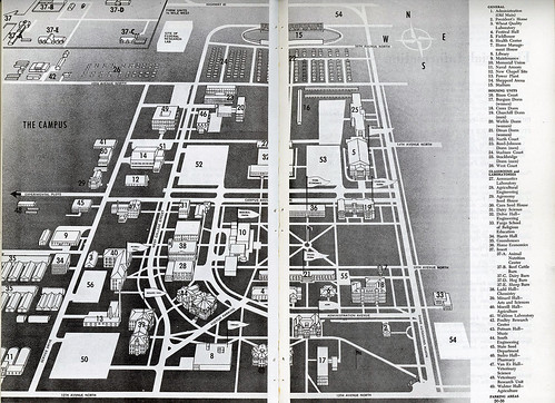 North Dakota State University campus map, 1965
