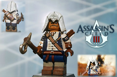 LEGO Assassin's Creed III : Connor Kenway (MGF Customs/Reviews) Tags: 3 lego connor homestead creed dezmond tomahawk templars animus assassins kenway haytham