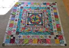 Marcelle Medallion top complete! (Lucy & Norman) Tags: london love liberty japanese quilt fabric medallion marcelle