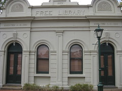 The Former Alexandra Mechanics Institute and Free Library  Corner Grant and Perkins Streets, Alexandra (raaen99) Tags: building heritage urn architecture town education pattern architecturaldetail library painted pillar 19thcentury decoration victorian australia victoria institute alexandra victoriana historical column stucco grantstreet 1877 publiclibrary parapet nineteenthcentury 1890s 1892 1883 classicalarchitecture 1870s 1880s countryvictoria grantst mechanicsinstitute adulteducation heritagelisted countrytown billiardhall architecturalfeature northeastvictoria freepubliclibrary architectunknown provincialvictoria perkinsstreet educationalestablishment victorianfreeclassical stuccoedbrick technicalinstitution victorianfreeclassicalbuilding victorianfreeclassicalarchitecture billardsaloon alexandramechanicsinstitute alexandramechanicsinstituteandfreelibrary alexandrafreelibrary alexandrafreepubliclibrary