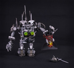 Gotcha! (captainsmog) Tags: monster iron lego evil medieval fantasy minifig chem golem weapons heroic adventurer moc