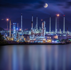 Refinery industrial plant (anekphoto) Tags: auto blue light chimney sky plant hot tower industry water metal night landscape construction automobile energy industrial factory technology tank power smoke pipe engineering structure steam gas pollution chemistry oil production environment worker powerplant gasoline heavy refinery pipeline engineer boiler fuel chemical petroleum boil manufacturing pollute petrochemical pollutant refine refinement