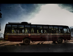 Local bus at Kotagiri,TamilNadu. (HareshKannan) Tags: travel sun bus nikon hill passenger 1855mm hdr tamilnadu hillstation kotagiri d3100