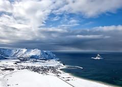 Bleik, Andøya. Best place on earth (I think) (Rachel Susann) Tags: ocean sea mountain snow beach vinter nordnorge fjell andøya vesterålen bleik northofnorway bleiksøya