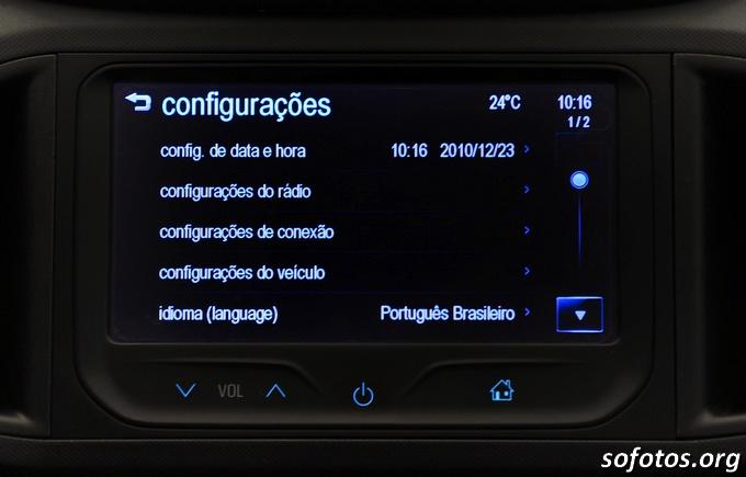 Central multimídia do Chevrolet Onix