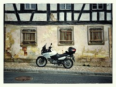 Back In Time (cszar) Tags: germany bayern deutschland bavaria franconia motorcycle suzuki franken 4s dl650 vstrom iphone snapseed